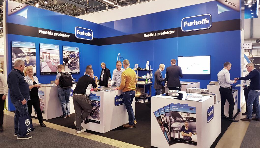 Furhoffs stiller ut sine rustfrie produkter på dobbelt så stor stand som i 2018