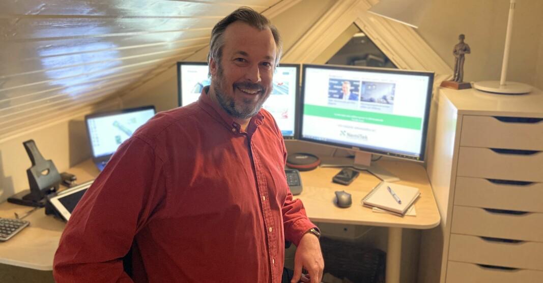 HJEMMEKONTOR: NemiTeks fag- og aktivitetssjef, Thomas Fransrud planlegger fagprogrammet for VVS-dagene i disse dager.